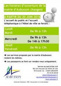 FLY ANNONCE HORAIRES MAIL
