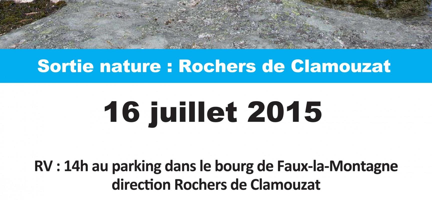 Sortie nature : Rochers de Clamouzat
