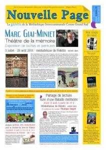 gazette JUILLET-AOUT 15 recto