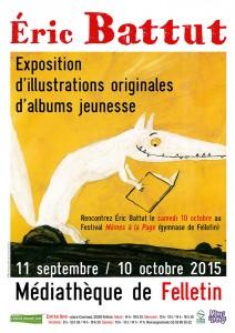Affiche expo BATTUT SEPT 15