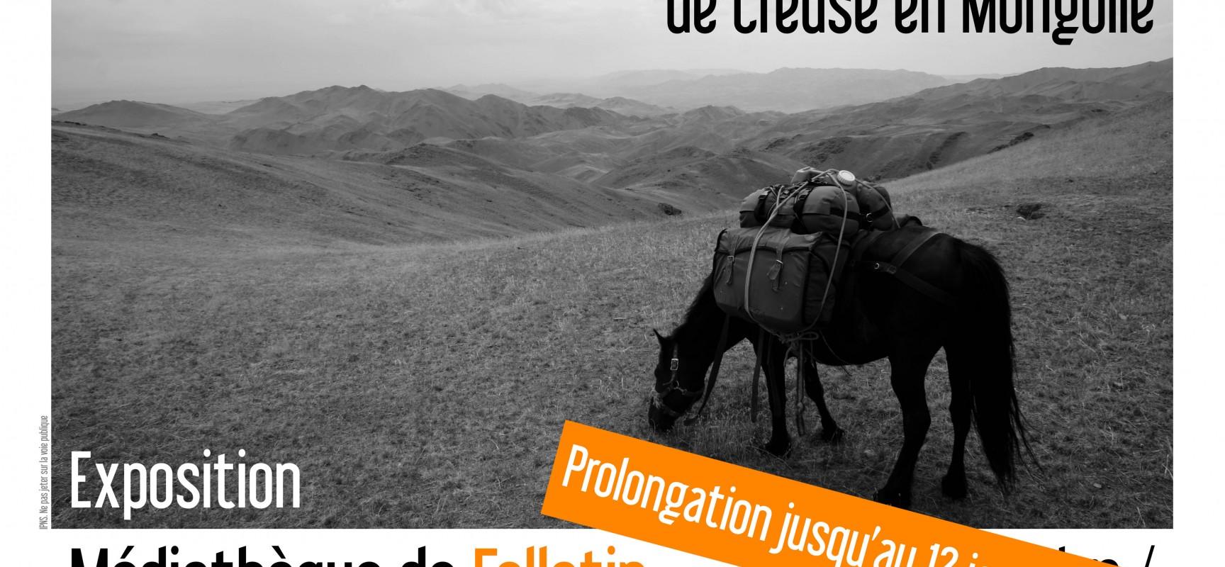 Prolongation de l'exposition «ESPRIT NOMADE de Creuse en Mongolie»