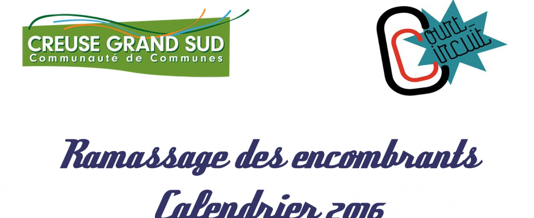 Ramassage des encombrants – Calendrier 2016