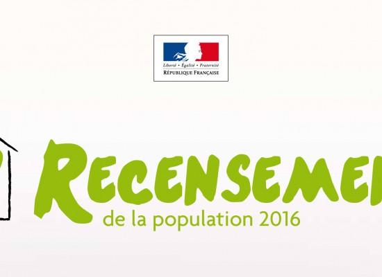 Le recensement c'est du jeudi 21 janvier au samedi 20 février