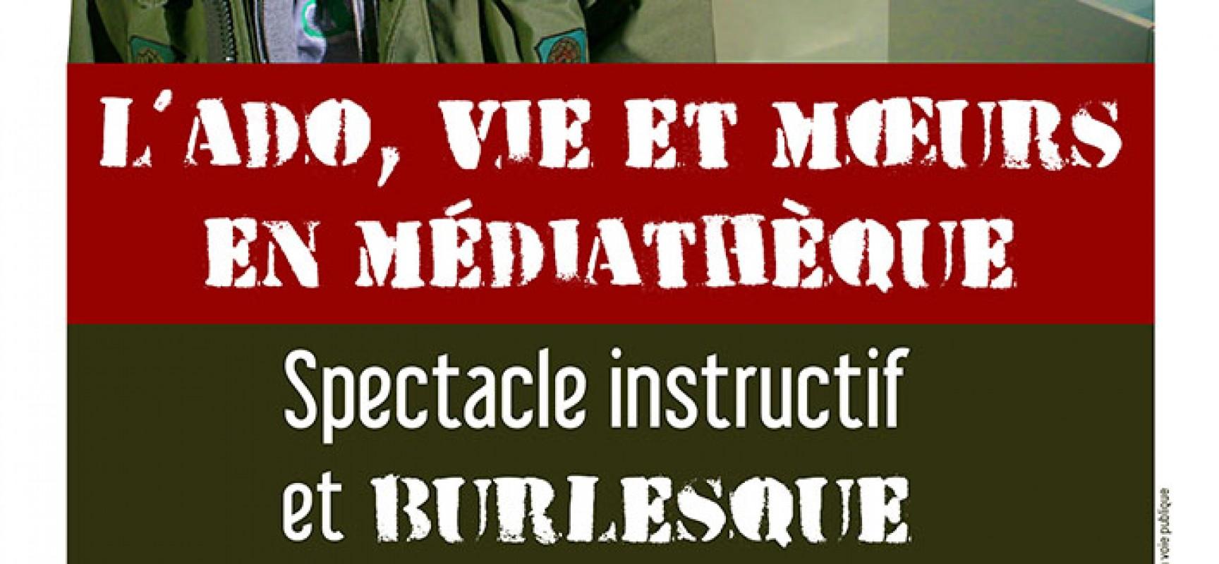 SPECTACLE > L'ado, vie et moeurs en médiathèque