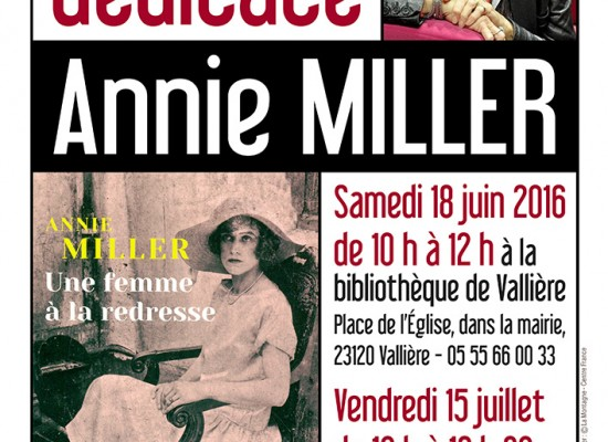 Rencontre dédicace : Annie Miller