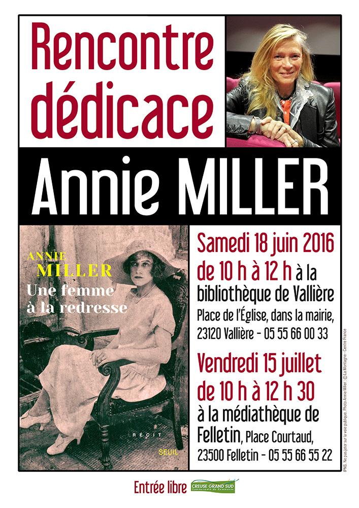 Affiche dédicace Annie Miller MAI 16