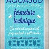 AQUASUD – fermeture technique annuelle