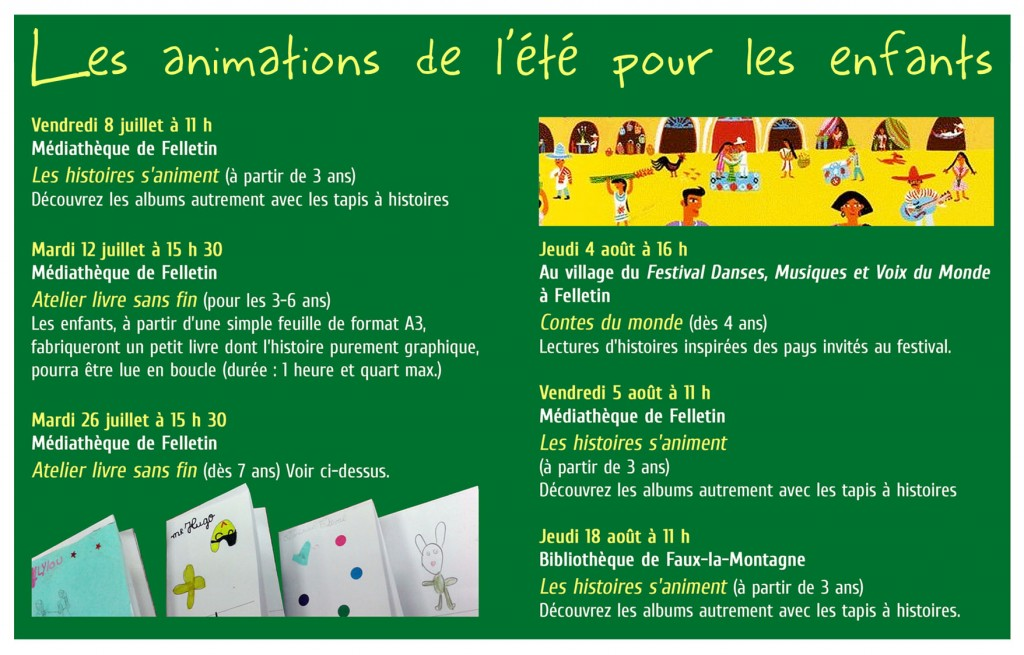 Flyer anime été 2016