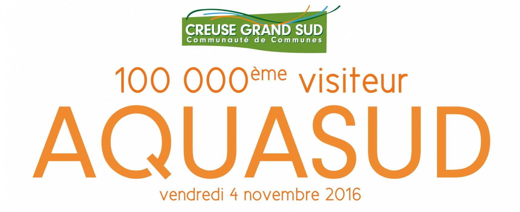 Le 100.000ème visiteur à la piscine AQUASUD ! #novembre2016