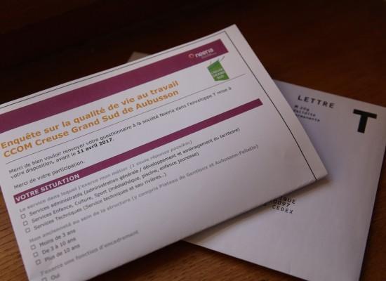 Creuse Grand Sud s'engage dans une démarche d'évaluation de la Qualité de Vie au Travail (QVT)
