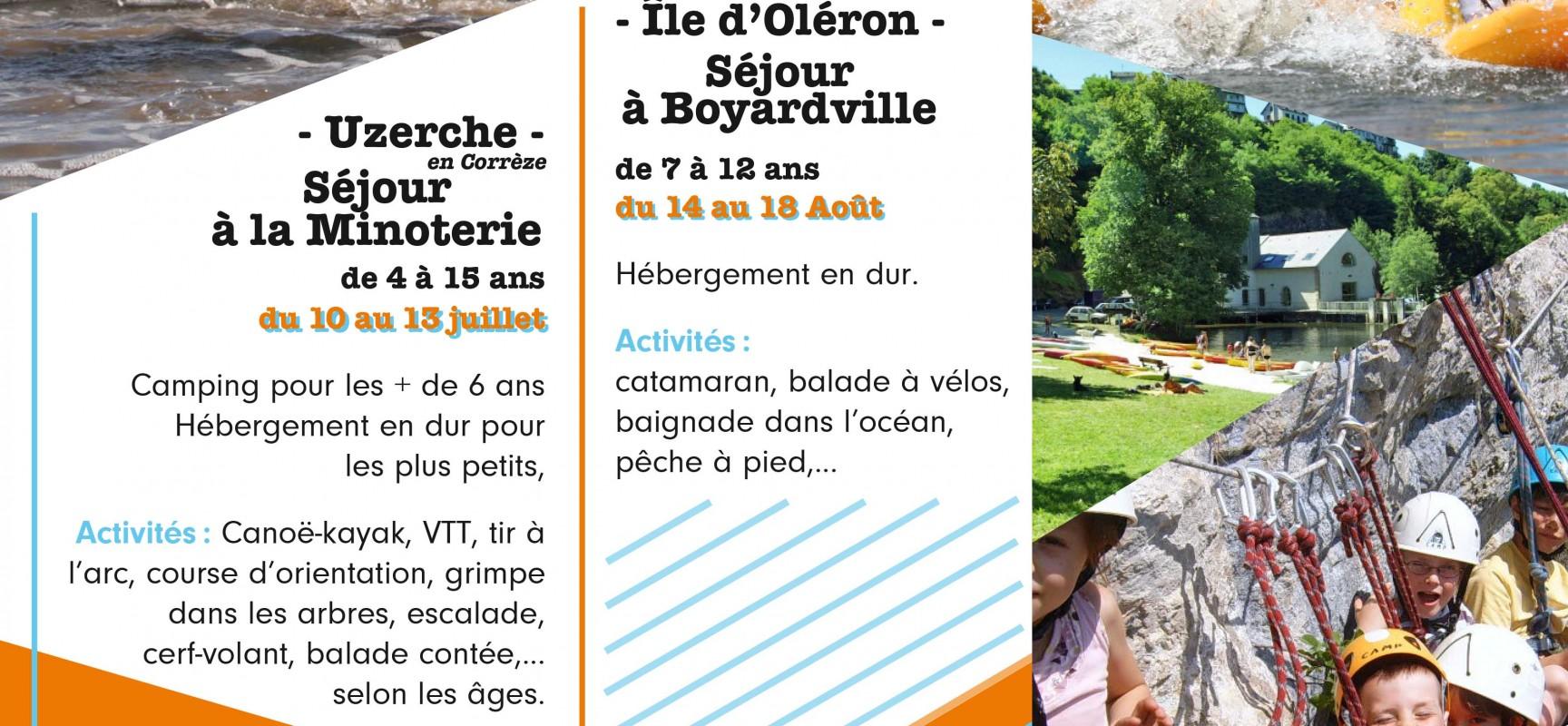 Centres de Loisirs : deux séjours pour les vacances d'été