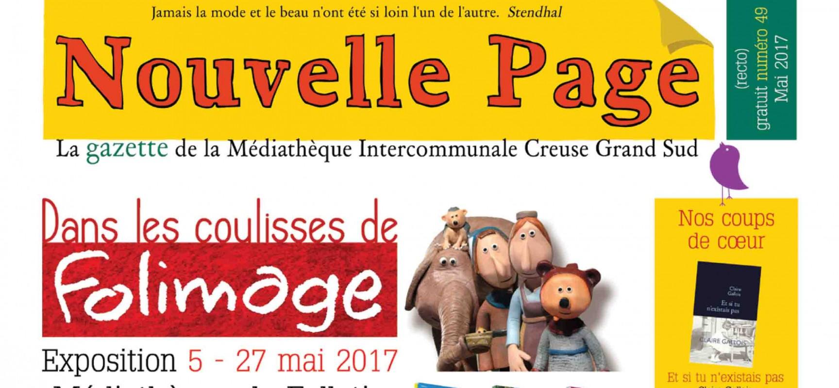La gazette de mai de la médiathèque Creuse Grand Sud est arrivée !