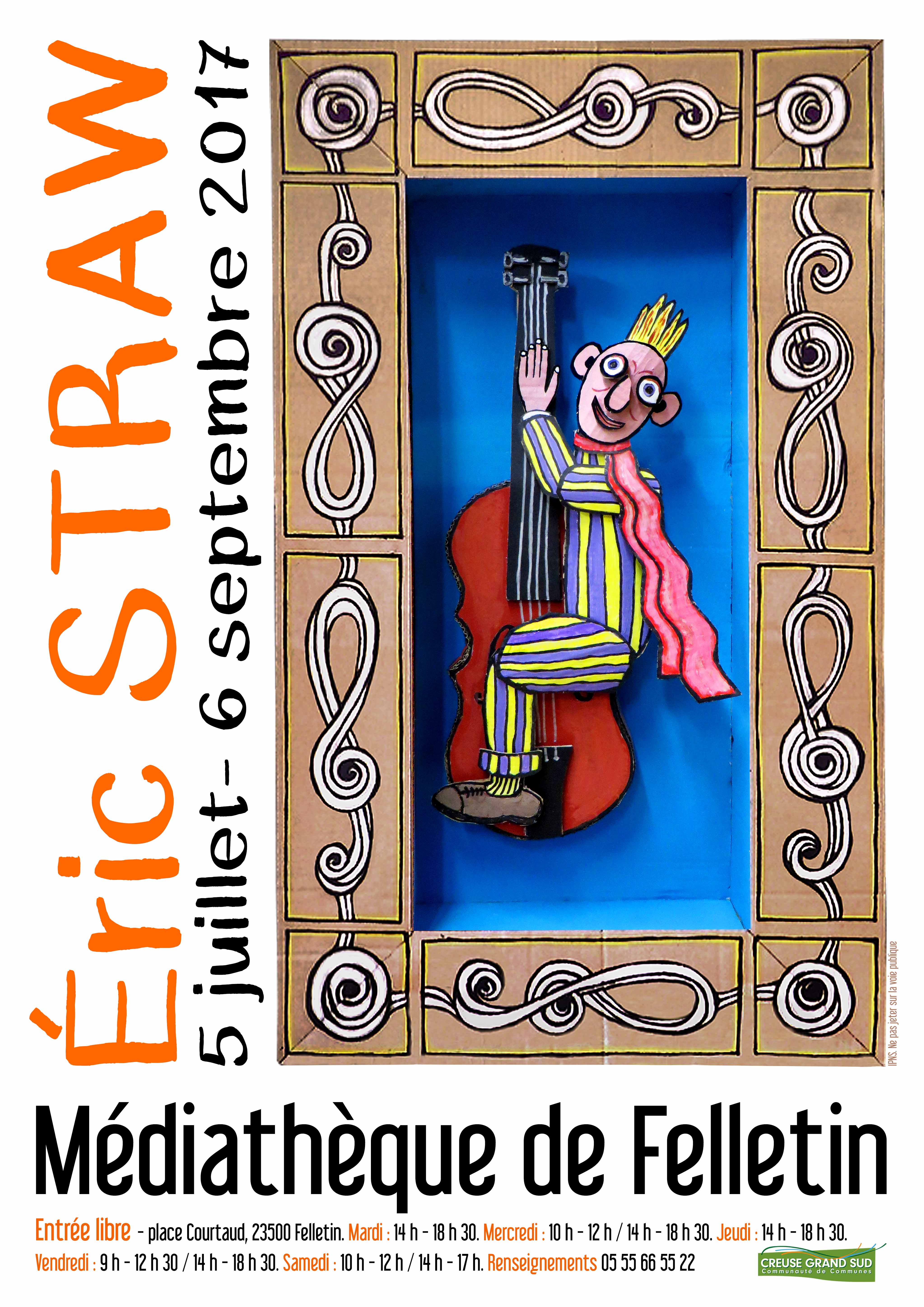 Affiche expo STRAW JUILLET-AOUT 17 BIS