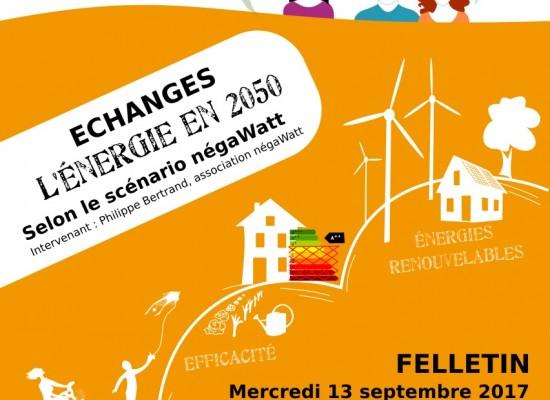 Conférence, échanges – «L'énergie en 2050″