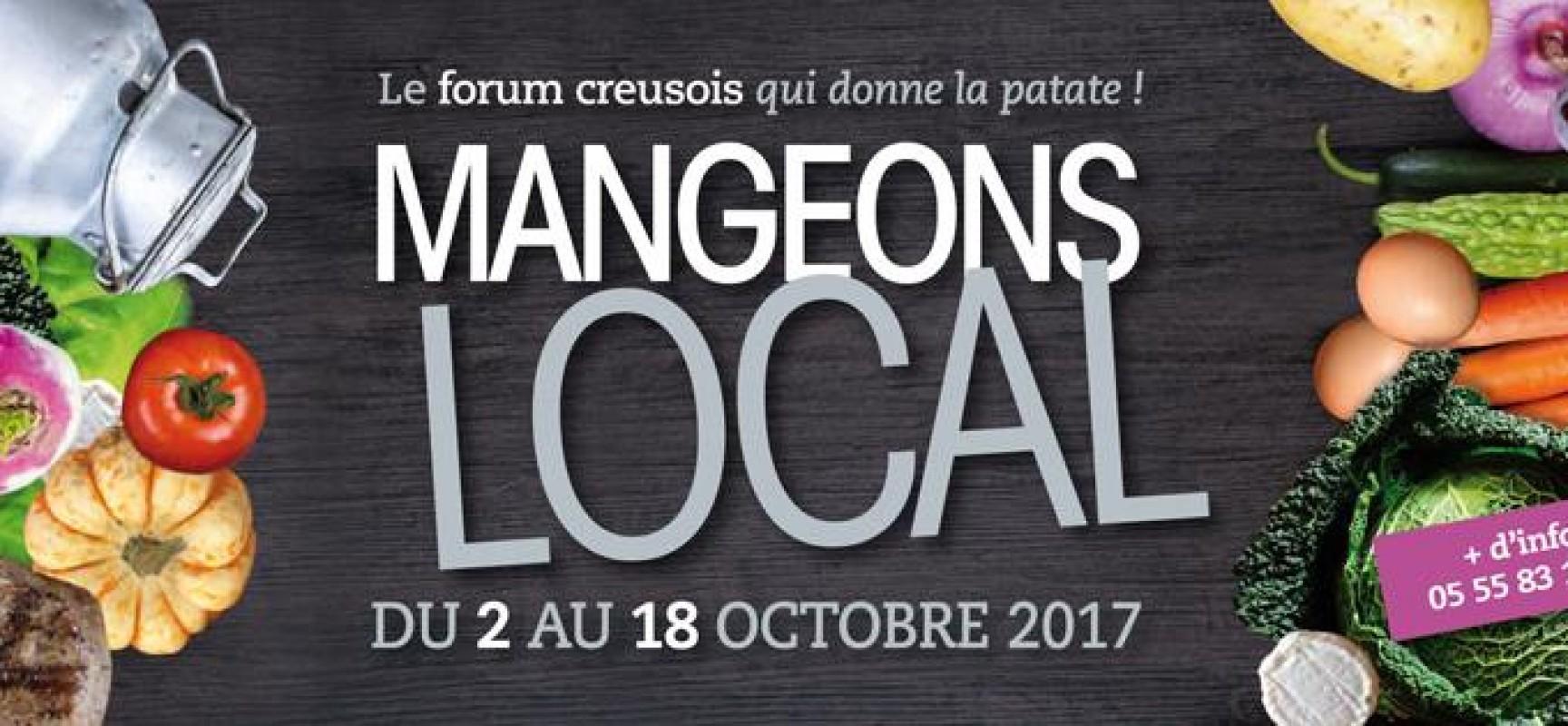 1er Forum de l'alimentation locale – « Mangeons local, le forum creusois qui donne la patate ! » du 2 au 18 octobre 2017
