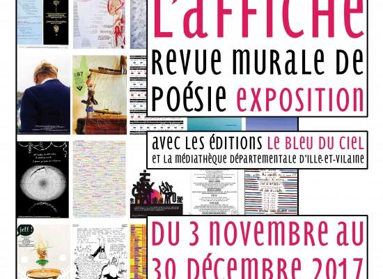 EXPO «L'Affiche – Revue murale de poésie» #Felletin du 3 novembre au 30 décembre 2017