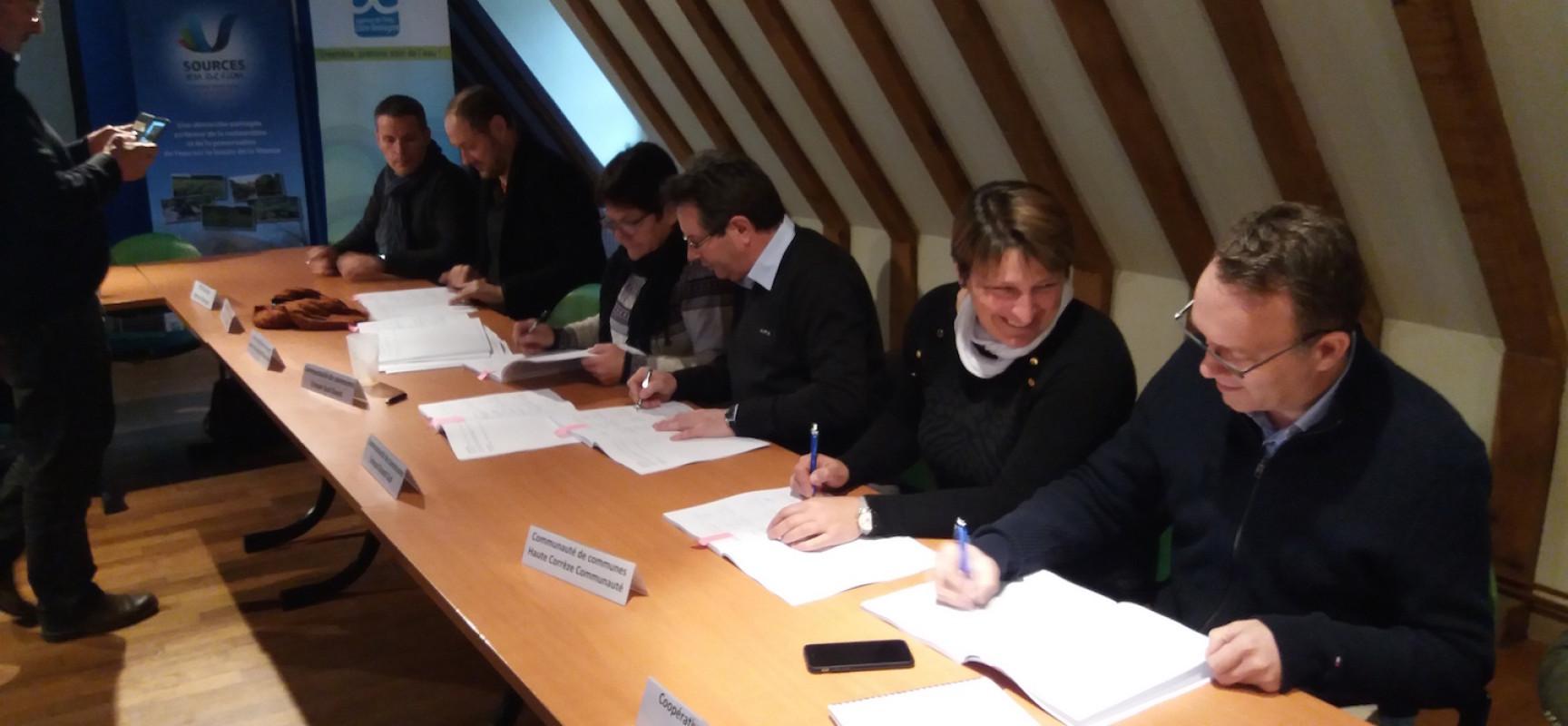 Signature du Contrat «Sources en Action», un nouvel engagement pour notre ressource en eau
