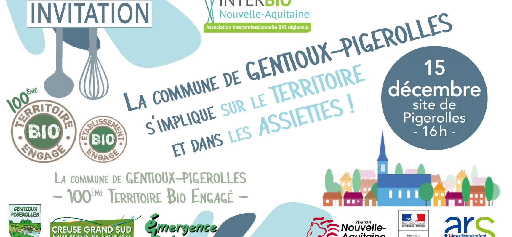 La commune de Gentioux-Pigerolles s'implique sur le territoire et dans les assiettes !