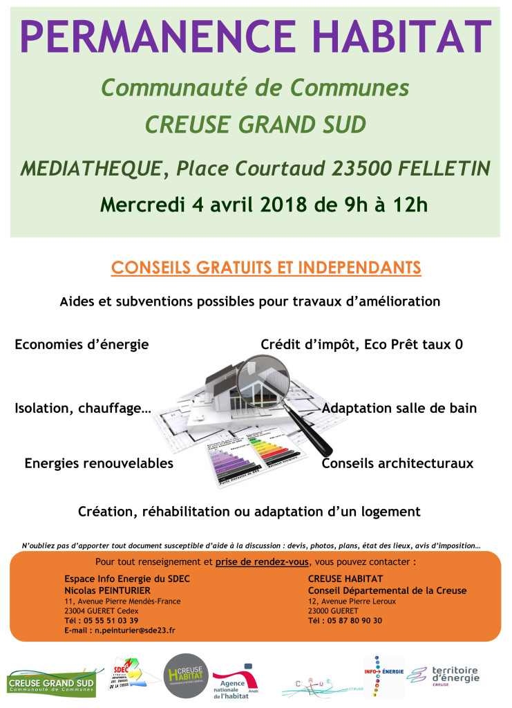 Affiche permanence Habitat  FELLETIN 04042018