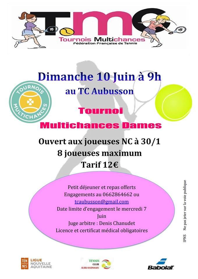 Tournoi multichances dames tcaubusson creuse grand sud for Pepinieres en ligne