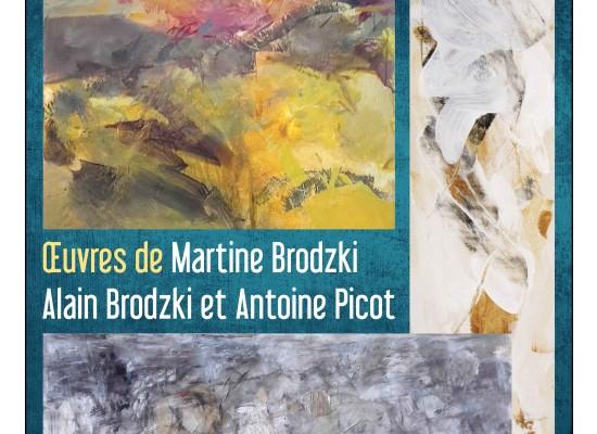 «La portée du geste» Exposition d'œuvres de Martine Brodzki, Alain Brodzki et Antoine Picot à la médiathèque de Felletin
