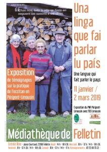 Affiche expo UNA LINGUA JANV-FEV 19
