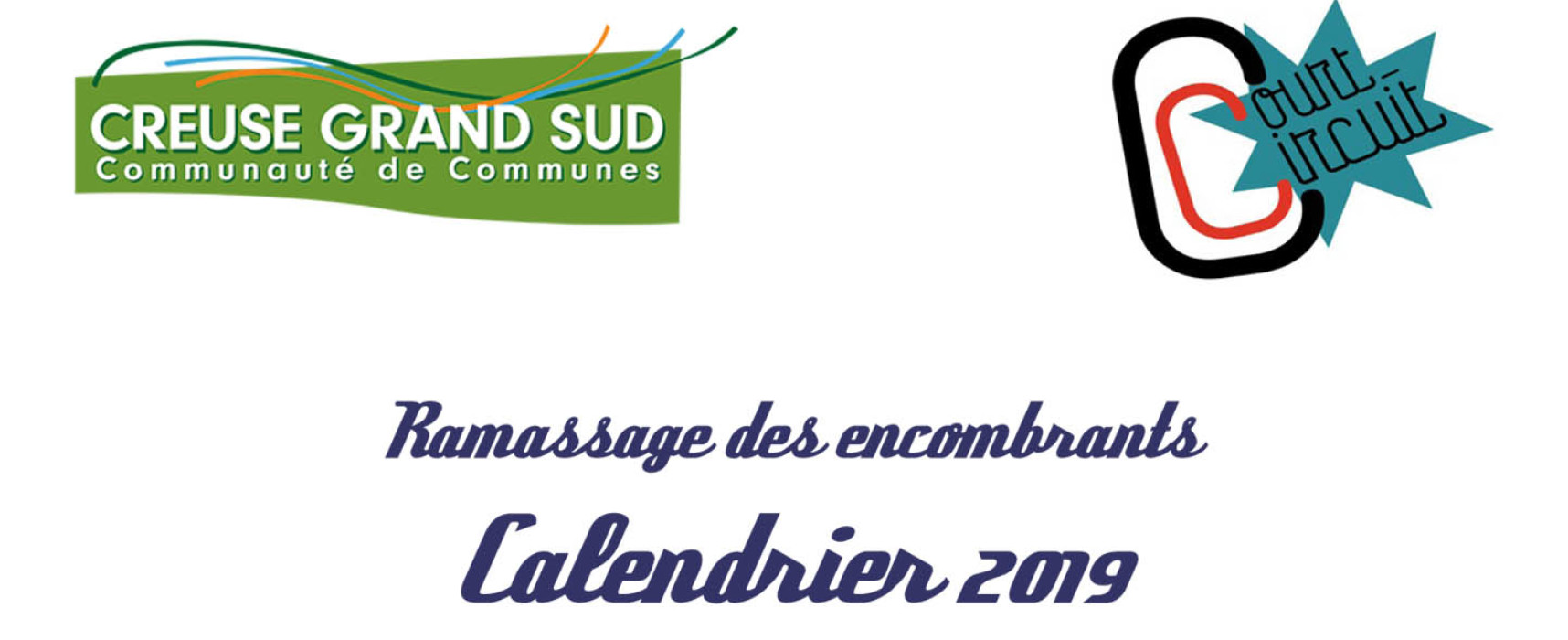 Ramassage des encombrants – Calendrier 2019