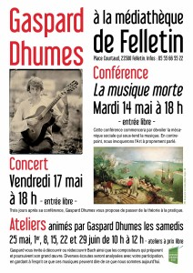 Affiche Gaspard Dhumes