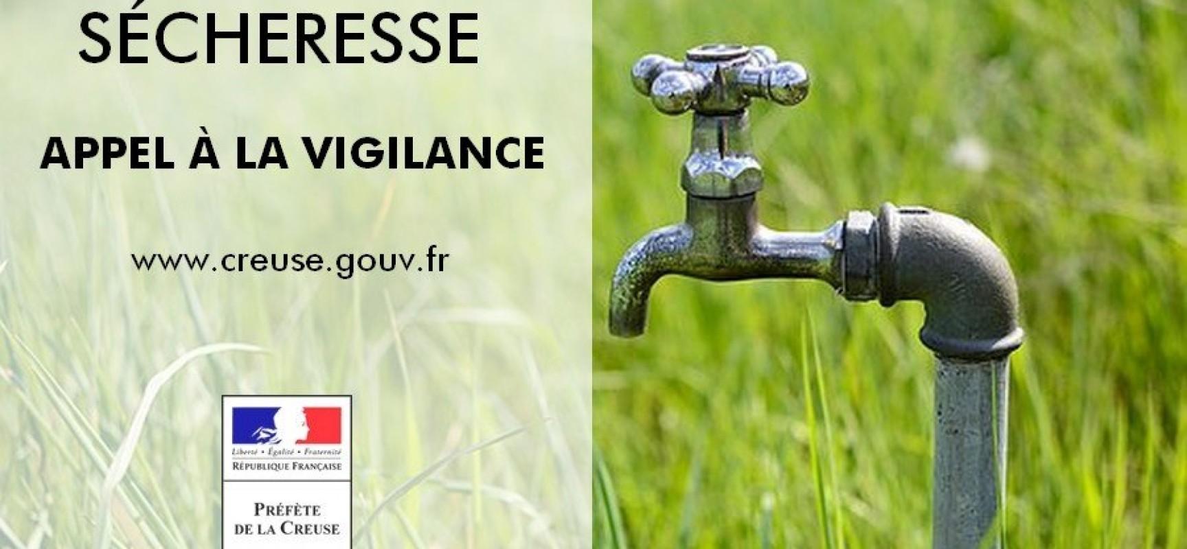 Maintien des restrictions d'usage de l'eau dans un contexte préoccupant qui impose à tous une attitude citoyenne