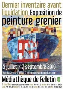 Affiche PEINTURE GRENIER ÉTÉ 19