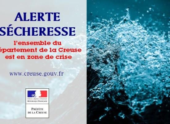 Sécheresse : la totalité du département en crise – Juillet 2019