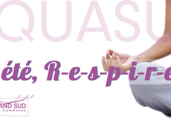 Cet été … r e s p i r e z ! #Yoga #Massage #AQUASUD