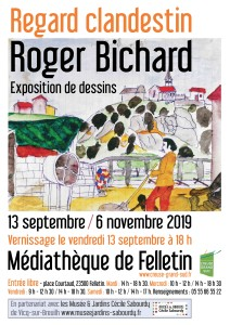 Affiche expo BICHARD SEPT-OCT 19