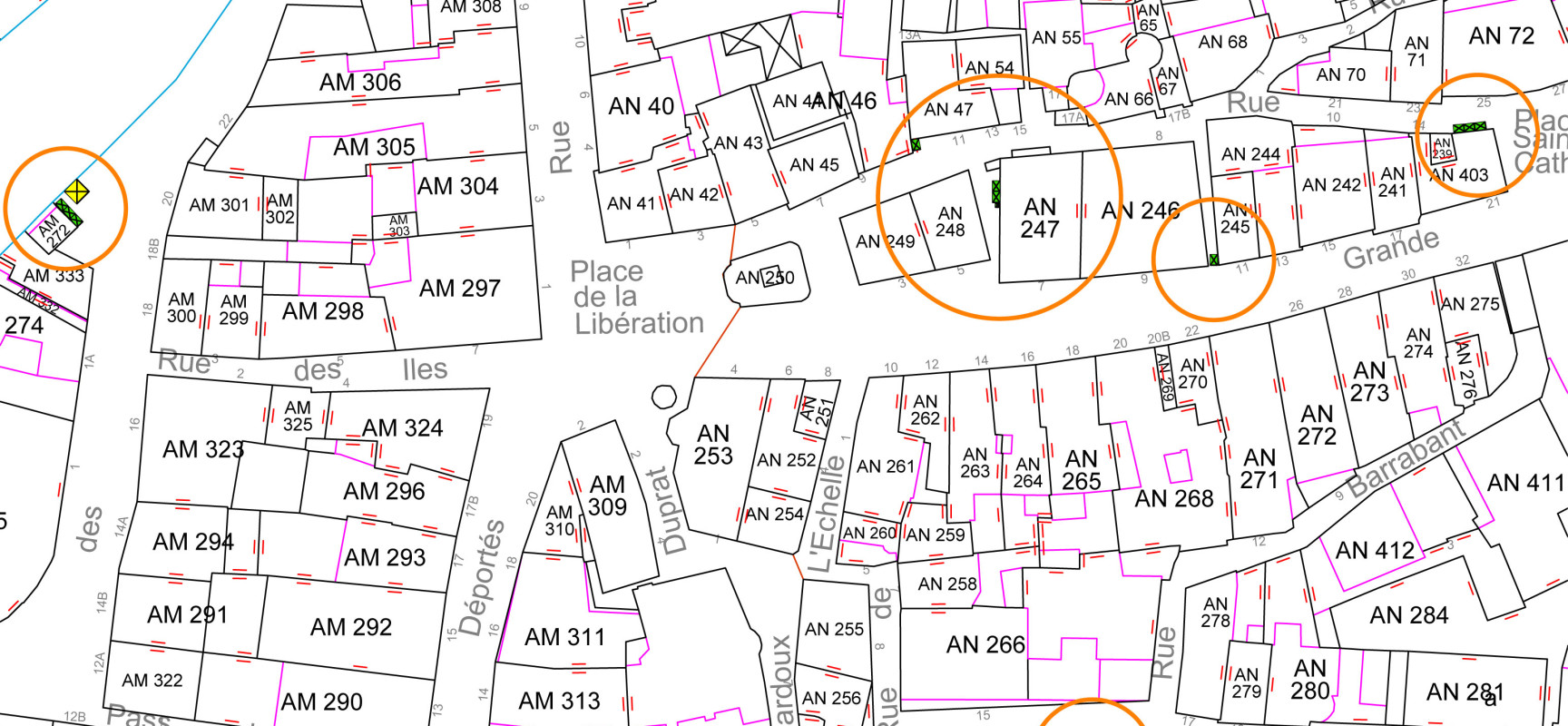 [Note d'Info] Emplacements des bacs de collecte aux abords de la Place de la Libération à Aubusson