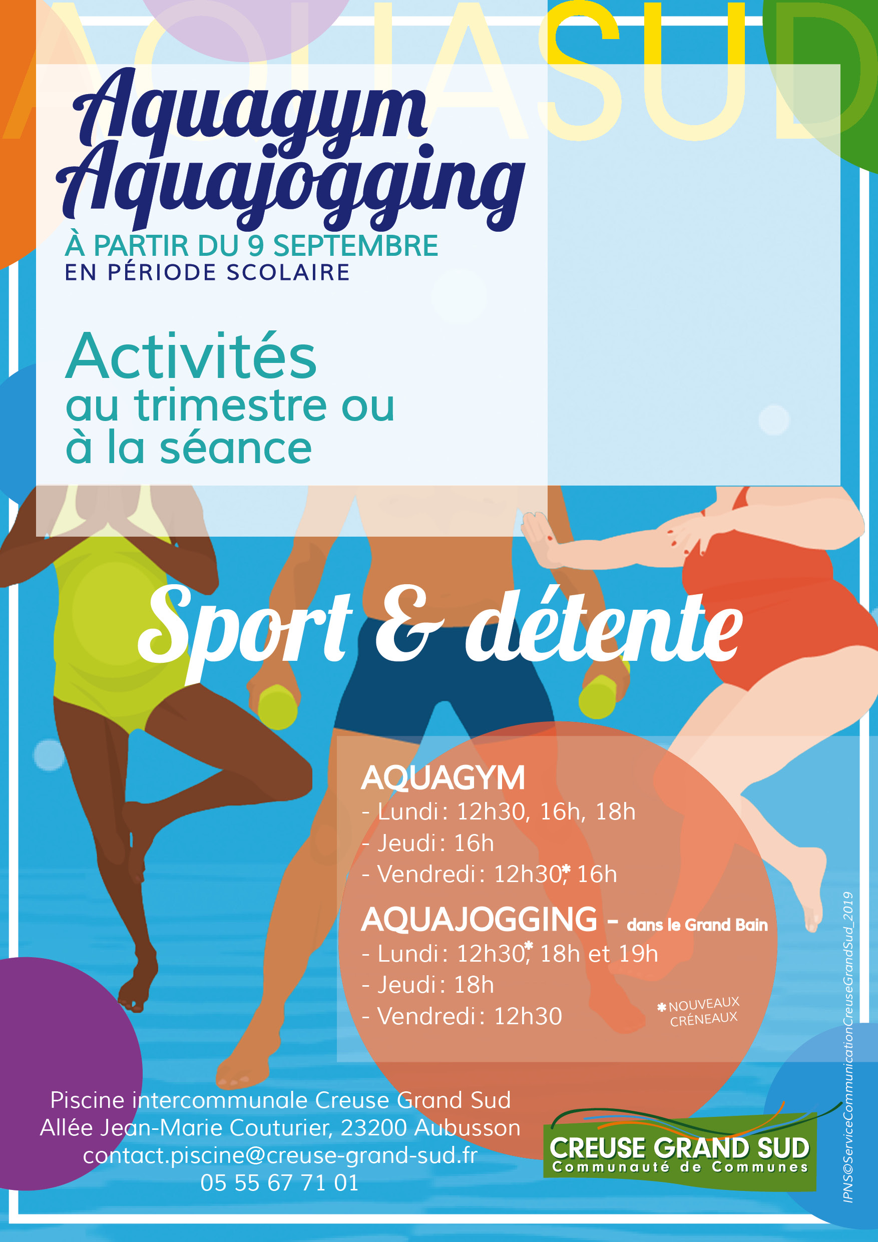 Sports aquatiques – Piscine AQUASUD   Communauté de Communes