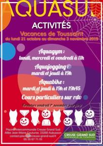 Affiche toussaint activités 2019 Web