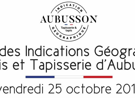 Remise des diplômes d'Indications Géographiques «Tapis-Tapisserie d'Aubusson»