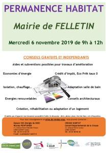 Affiche permanence Habitat FELLETIN 06112019