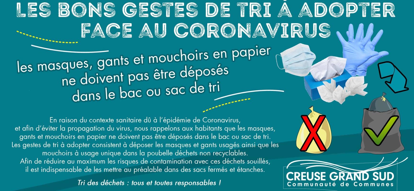 [Covid19] Les bons gestes de tri à adopter face au Coronavirus-Covid19