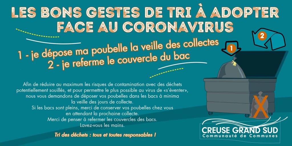 tri covid 19 container fermés