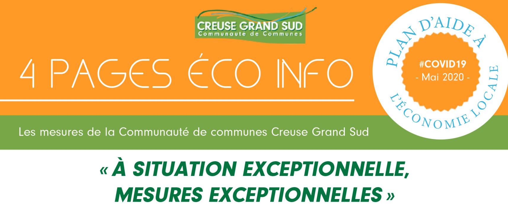 « À situation exceptionnelle, mesures exceptionnelles », le plan d'aide à l'économie locale de Creuse Grand Sud