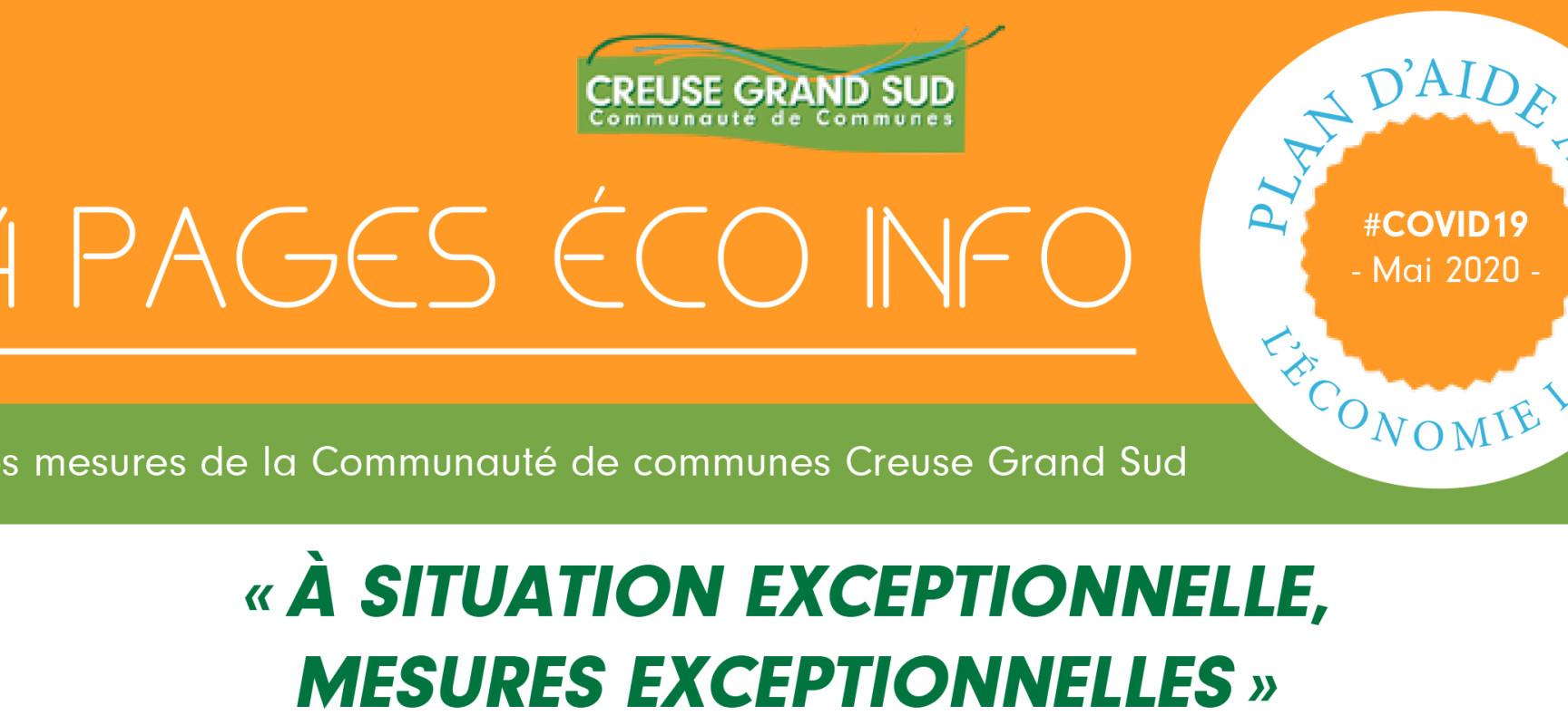 [Covid19] « À situation exceptionnelle, mesures exceptionnelles », le plan d'aide à l'économie locale de Creuse Grand Sud – Juin 2020