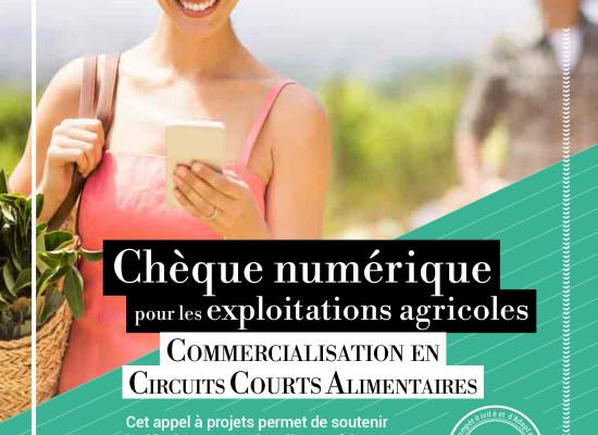 Chèque numérique pour les exploitations agricoles: commercialisation en circuits courts