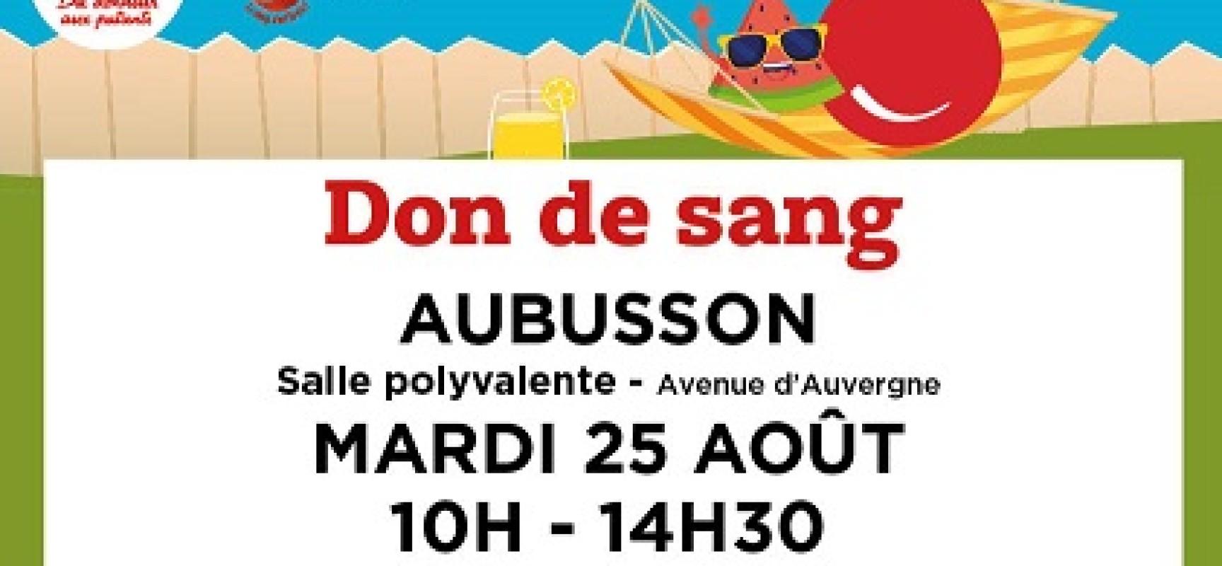 Mobilisez-vous pour le #DonDeSang ! #Aubusson