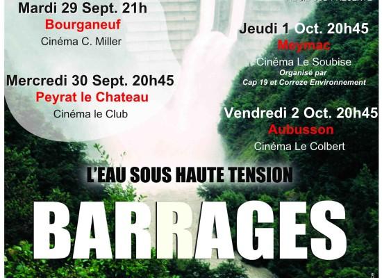 Projection du film Barrages en présence du réalisateur