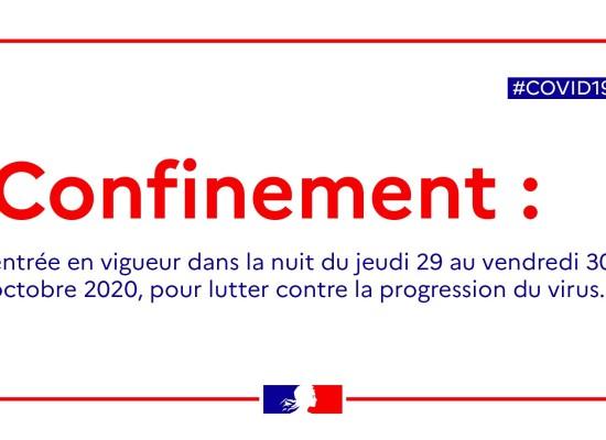 [Covid19] Reconfinement national / Annonces présidentielles – 29 octobre 2020
