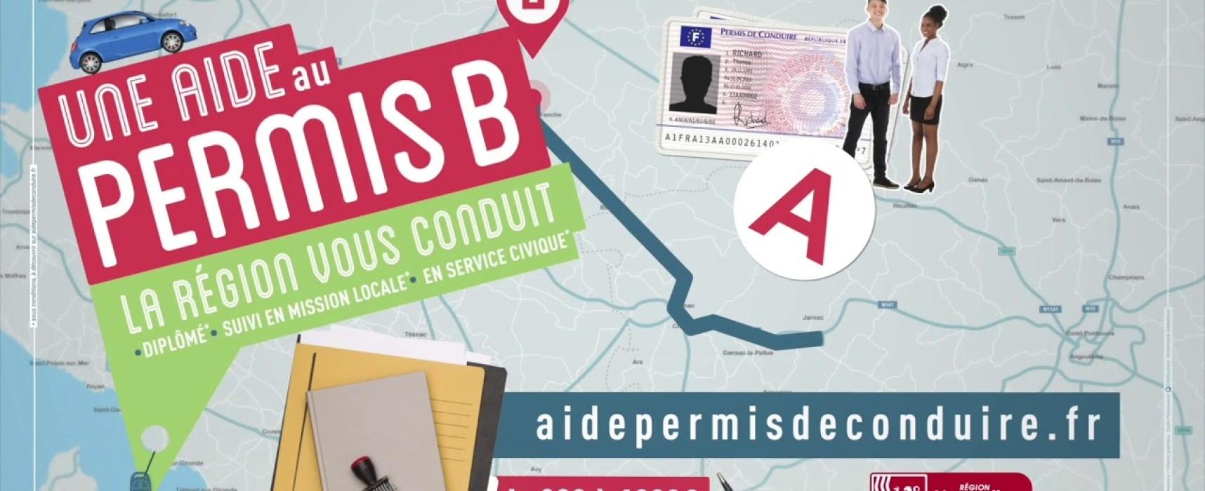 [17 – 25 ans] Une aide au permis B ? La région vous conduit !  – Octobre 2020