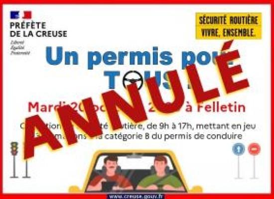 [Annulé] Un permis pour tous #Felletin mardi 20 octobre 2020