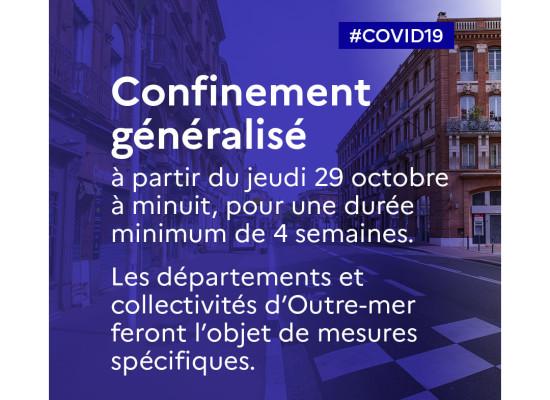 [Covid19] Les principales annonces du 1er ministre en images – 30 octobre 2020
