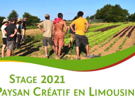 Stage Paysan créatif en Limousin, inscriptions jusqu'au 15 novembre 2020